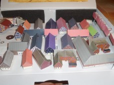 """Produkt einer Kartonmodellbau-Nachmittags-Runde der NABU-Jugend Schaafheim, 21 Häuser!!       """"Vielen Dank für eure Teilnahme und der Bau dieser schönen Häusern. Wir sehen uns auf dem Backesfest, am 09.09."""""""