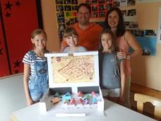 Die Häuser wurden gebastelt von der Katholischen Jugend Schaafheim-Mosbach, 12 Stück, gute Arbeit. Der HGV sagt DANKE!