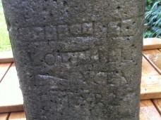 Eine alte Inschrift